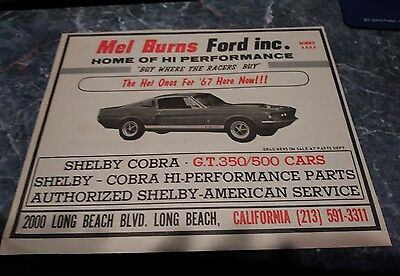 shelby mustang ad rare gt 350 500 kr ford poster vintage 67 photo 1967 carroll