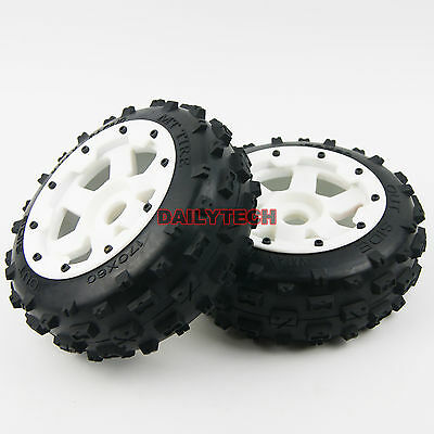Front Off road Knobby Digger Tyre Wheel fits HPI Rovan Baja 5B SS DM
