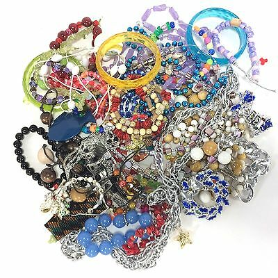 Jewelry Camp Craft Odd Lot Bright Beads Junk Drawer for Parts or Crafts #3