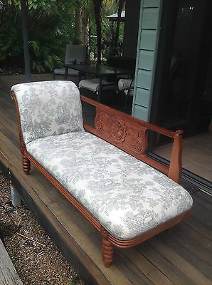 Chaise Lounge  Set with Victorian Lady's Chair