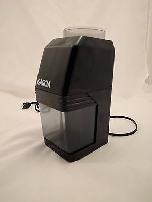 Gaggia MM Coffee grinder Made in Italy No Top Works Well Black