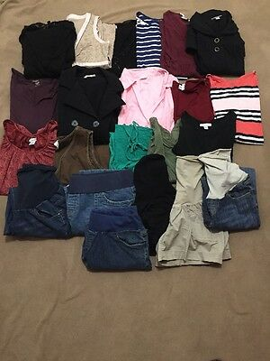 Lot Of 22 Maternity Clothes Size S M L XL Motherhood Liz Lange In Due Time etc.