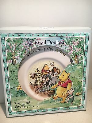 Royal Doulton Winnie The Pooh Christening Plate