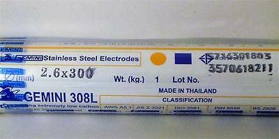 1kg Packet 2.6mm x 300mm GEMINI 308L STAINLESS STEEL Welding Electrodes