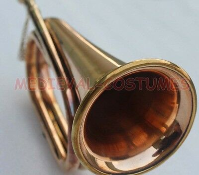 Bugle Brass And Copper Vintage Military Army Signal Trumpet Bugle Instrument