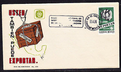 Mexico 1974 Exports  First Day Cover.- Unaddressed