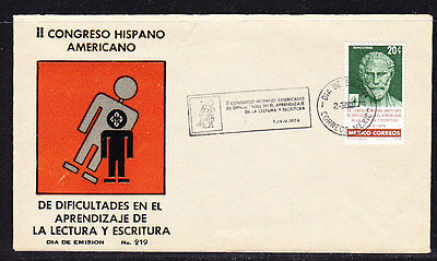 Mexico 1974 Reading Writing Congress First Day Cover.- Unaddressed
