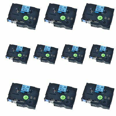 10PK Black on Blue Label Tape Compatible for Brother TZ TZe 531 P-Touch 26.2ft