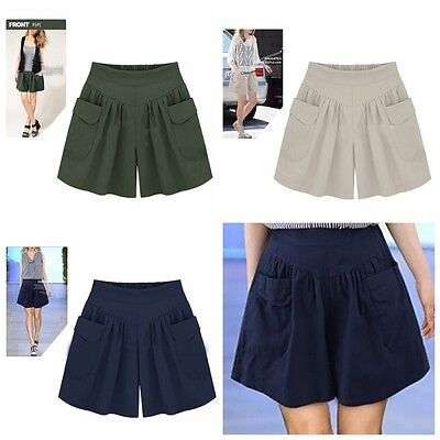 Women Short Pants Plus Size Summer Casual Beach Shorts High Waist Loose Shorts