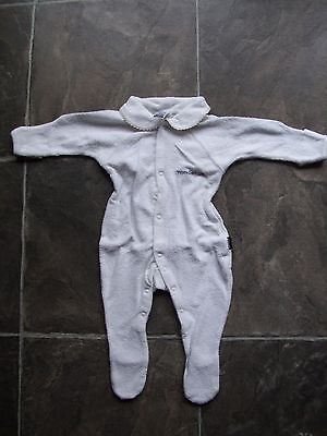 BNWNT Baby Boy's/Girl's Unisex White Towelling Wondersuit/Coverall Size 00