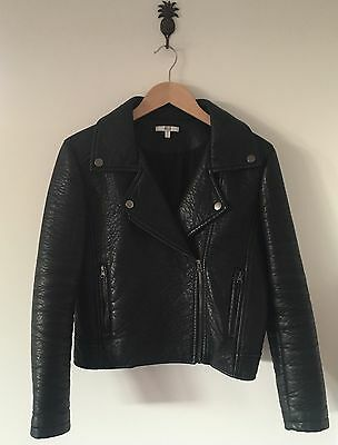 Asilio Black As Night Biker Jacket Size 8