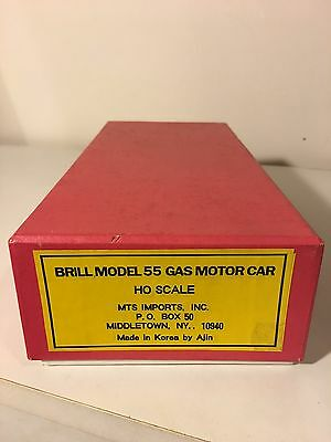 Brill Model 55 Gas Motor Car HO Scale Red Car