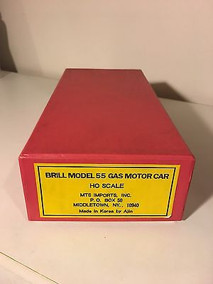 Brill Model 55 Gas Motor Car HO Scale Gold