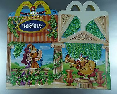 ANCIENNE BOITE HAPPY MEAL McDONALD'S / VINTAGE TOY BOX / HERCULES
