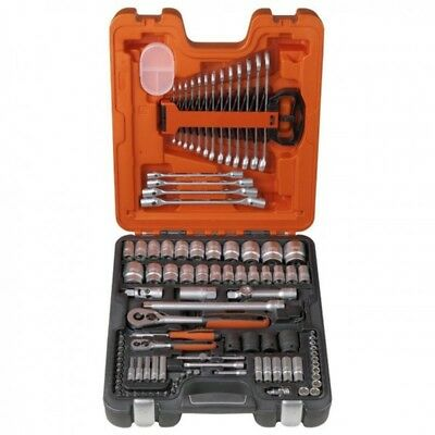 NEW! Bahco S106 Piece 1/4″ & 1/2″ Square Drive Socket & Spanner Set