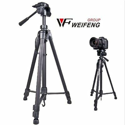 "Professional Heavy Duty 63"" DV Video Camera Tripod Stand w/Fluid Pan Head Kit"