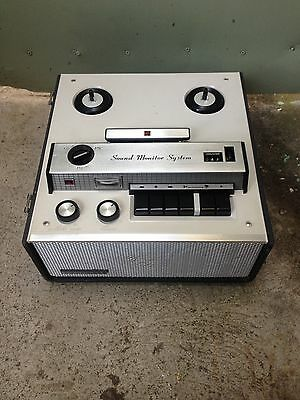 Vintage 1967 National Rq-703S Reel-To-Reel Audio Tape Recorder Sound Monitor Sys