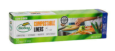 BioBag 20 Litres Compostable Food Waste Bin Liners (20's) - Free P&P to Ireland!