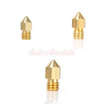 3D Printer 0.2mm & 0.4mm & 0.5mm Extruder Nozzle Print Head for Makerbot