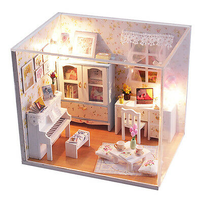DIY Handcraft Miniature Project Wooden Dolls House My little Piano Room 2017