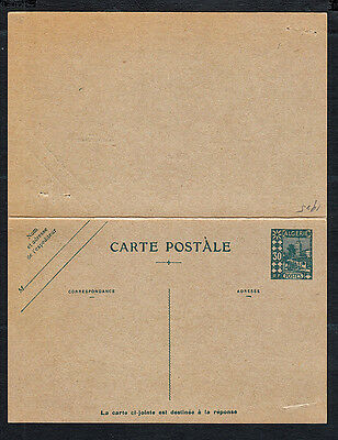 French Algeria 1920s Postal Reply Card..Unused & Complete...NICE.....#797P2s