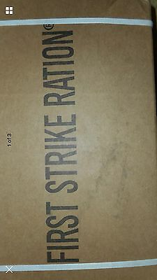 1Case New First Strike Ration Rare MRE FOOD EMERGENCY MEAL READY TO EAT Menu 1-9