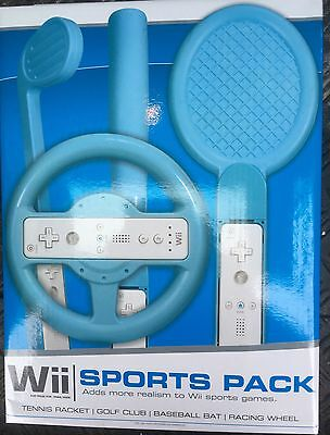 Wii Sports Pack In Blue Or Pink - Soft Foam Gaming Attachments