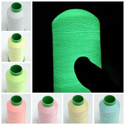 3000/1000Yards Spool Glow In The Dark Machine Embroidery Sewing Polyester Thread