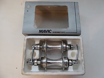 Vintage NOS Classic MAVIC 1000 Hubs 36/36 1ST Type RARE BOXED French Thread RARE