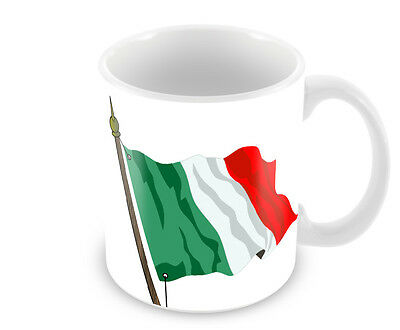 Italian Flag Coffee Mug   Free Personalisation
