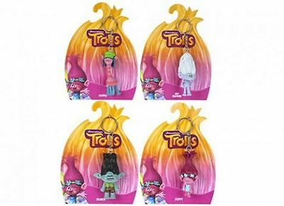 Licensed Troll 3D Keychain Keyring Bag Charm Branch, Guy Diamond, Cooper, Poppy