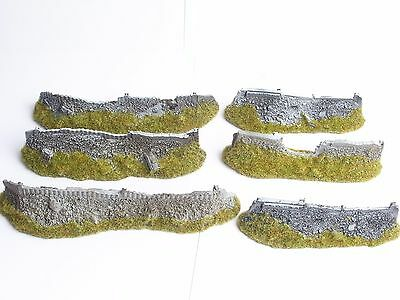 Citadel 40K Pre Painted Hard Foam Barricades X 6. Oop