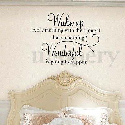 Family Wake Up Removable Wall Sticker Home Decoration Bedroom Art DIY Decals New