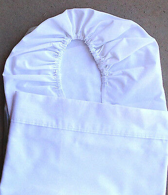 Pr white bassinet sheets  - Fitted & Flat   Free Post
