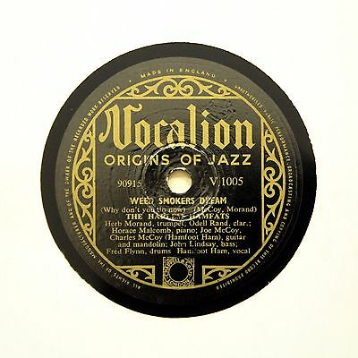 """THE HARLEM HAMFATS """"Weed Smokers Dream"""" VOCALION V-1005 [78 RPM]"""