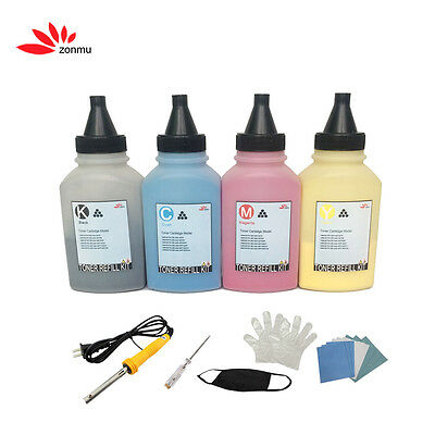 4x Toner Refill Compatible For HP 201A CF400A Color Laserjet M252n M252dw M277n