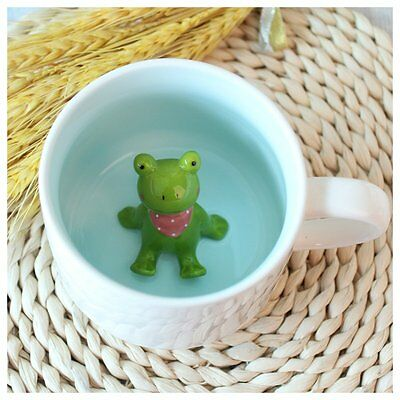 3D Cute Cartoon Miniature Animal Figurine Ceramics Coffee Cup - Baby Frog Best &