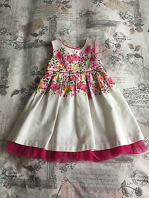 Girls Summer Party/Occasion Dress, Floral Print, 18-24 Months