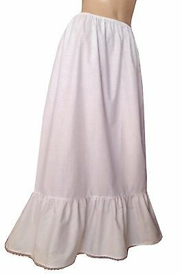 All Sizes Long White Petticoat Underskirt Steampunk Victorian Theatre Civil War