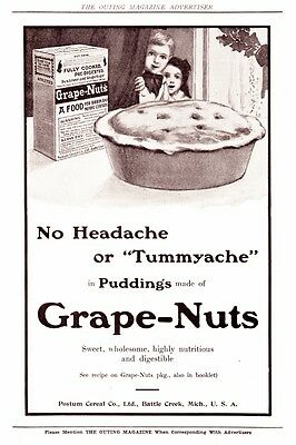 1910 Vintage ads Grape Nuts  and Postum Cereal
