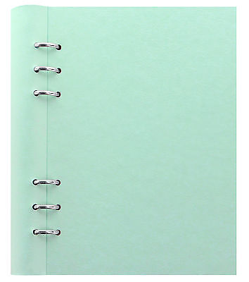 Filofax A5 Clipbook Pastel Duck Egg Green Refillable Notebook Leather Look
