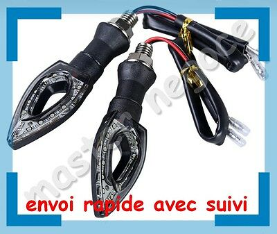 lot 4 clignotants moto scooter quad universel 12 led
