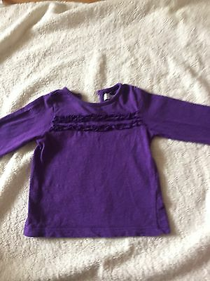 Baby Girls Long Sleeved Top. Age 6-9 Months. In Used Condition.