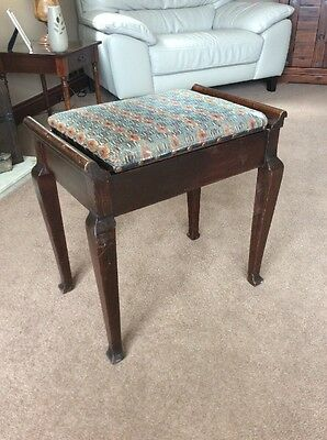 Original Vintage Mahogany Piano Stool  ( Project )