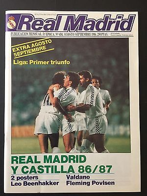 1986. Bernabeu Trophy. Real Madrid - Dynamo Kiev. Final. magazine programme