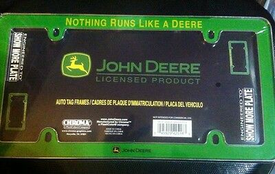 John Deere Licensed Plate Frame (Green)- LP42518 NEW Licensed John Deere product