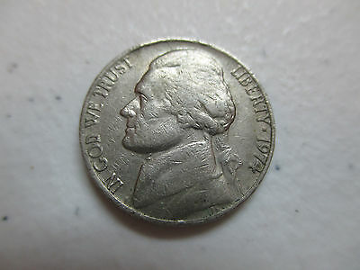 1974-(P) Jefferson 5C Nickel Coin Circulated