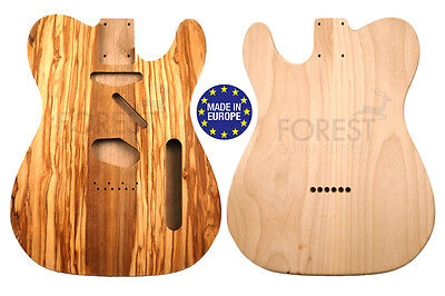 TELECASTER 50s Body Electric guitar American Alder / Bookmatched Olivewood top