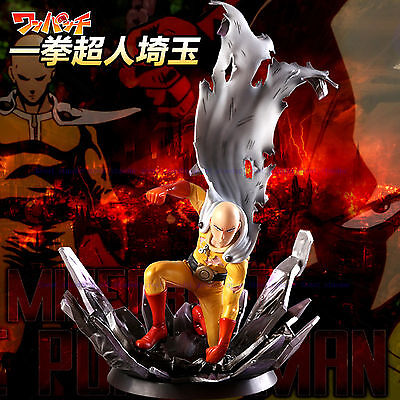One Punch Man Saitama PVC Figure 24cm Hero Come Back From The Moon In Box China