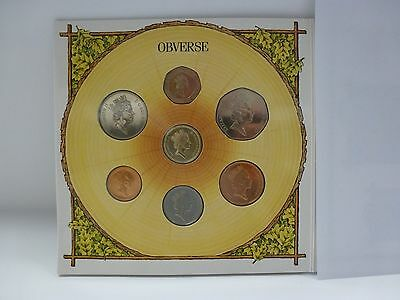 1987 United Kingdom Uncirculated Set, 7 Coins, mint packaging